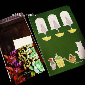 猫と多肉植物(クリア) レターセット
