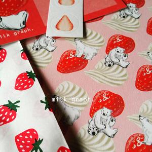 いちごクリームシロクマ(いちご封筒) レターセット