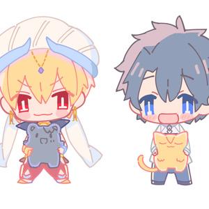 ぐだ男 with猫ちゃん王 アクリルフィギュア