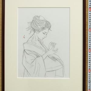 ノルウェー用壁画のための下絵② 鉛筆線画直筆素描 オリジナル1点 ツナマヨさんモデル