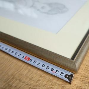 フィレンツェ・マゼッリ額縁工房とのコラボレーションための下絵 鉛筆線画直筆素描 オリジナル1点