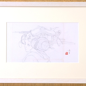 絵画「ZERO MOMENT POINT」のための下絵 鉛筆線画直筆素描 オリジナル1点