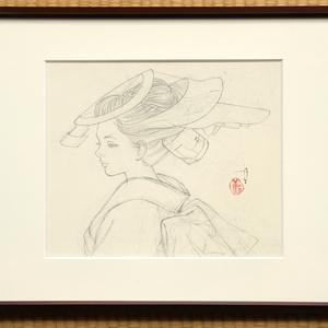 絵画「遍路」のための下絵 鉛筆線画直筆素描 オリジナル1点
