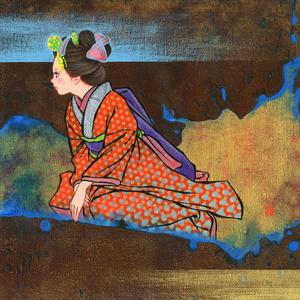 絵画「目を覚ませと呼ぶ声が聞こえる」のための下絵 鉛筆線画直筆素描 オリジナル1点