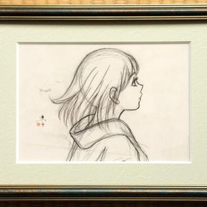 絵画「夜」のための下絵 線画直筆素描 オリジナル1点