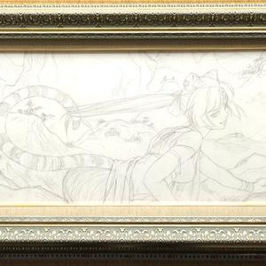 アングレーム国際漫画祭でのライブペイントのための下絵 鉛筆線画直筆素描 オリジナル1点