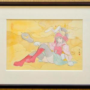 フィレンツェ・メディチ・リカルディ宮殿でのライブペイントのためのスケッチ 鉛筆水彩画直筆素描 オリジナル1点