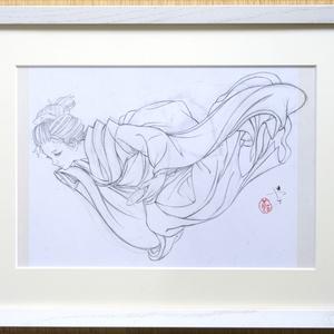 ノルウェー用壁画のための下絵⑤ 鉛筆線画直筆素描 オリジナル1点