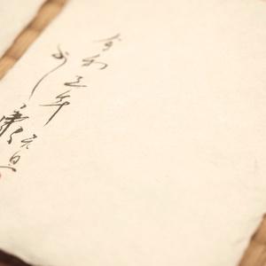5枚限定 手漉き和紙葉書に墨・水彩で手描きの年賀状 額装無し