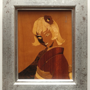 木象嵌「初春の髪」① フィレンツェZouganista工房で制作 伝統工芸 オリジナル一点