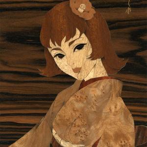 木象嵌「初春の髪」③ フィレンツェZouganista工房で制作 伝統工芸 オリジナル一点