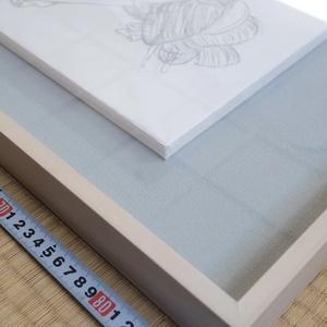 絵画「見立て月光」のための下絵 鉛筆線画直筆素描 オリジナル1点