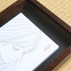 絵画「Fairy tale」のための下絵 鉛筆線画直筆素描 オリジナル1点