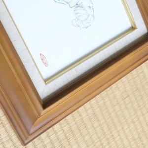 絵画「やつし稲荷」のためのスケッチ 鉛筆線画直筆素描 オリジナル1点