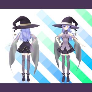 【VRアバター向け】魔女3Dモデル【エルダーソーサレスハイポリ版】