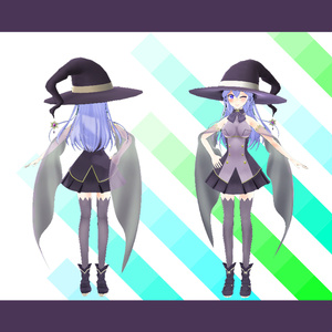 【VRアバター向け】魔女3Dモデル【エルダーソーサレス】