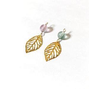 【3カラー】植物の国の耳飾り