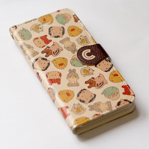 どうぶつさん手帳型iPhoneケース
