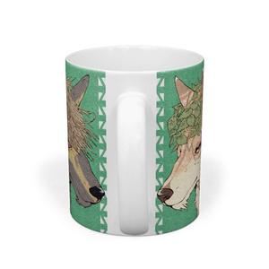 民族風おおかみマグカップ