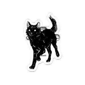 黒犬バッジ