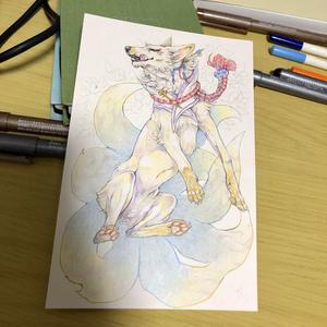 【アナログ】創作獣コミッション【はがきサイズ】