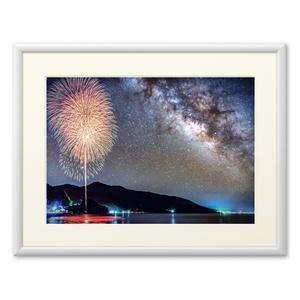 複製画(プリモアート)天の川と花火①