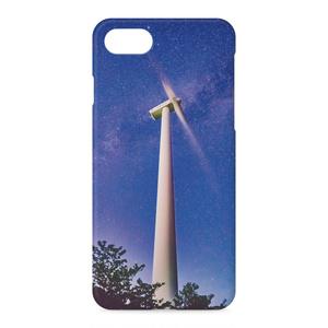 iPhoneケース 天の川と風車①
