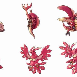 2段階進化する2Dモンスターパック【キャラクター画像素材】
