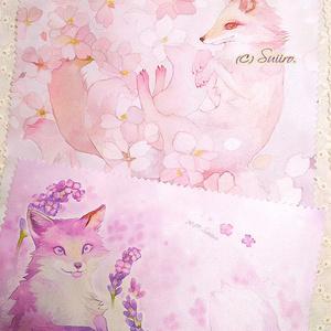 ラベンダー狐(Lavender Fox)のクロス