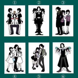 「悪魔手帳」ポストカード六種