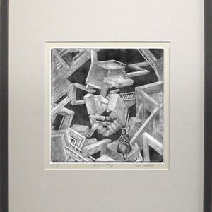 銅版画:キャットウォーク モナリザの回廊