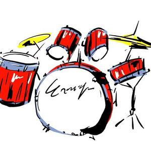 JPEGイラストデータ:ドラムス