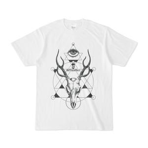 DACHIA DOLL・Tシャツ【幾何学模様と鹿の頭蓋】