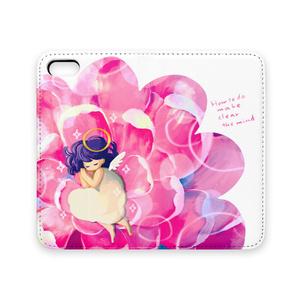 天使のひとやすみ手帳型iPhoneケース