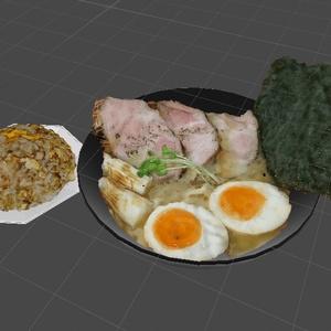 【無料】料理3Dデータ