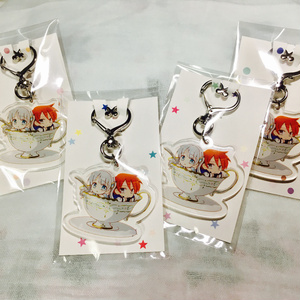 アクリルキーホルダー(ハート型ナスカン/エンジェル&タナンinティーカップ)