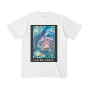 梅雨(雨季)の魔女 白Tシャツ