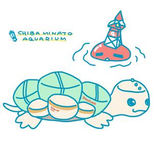 『おいでよ!千葉みなと水族館』Tシャツ(フヒョウダコ&タンクガメ)