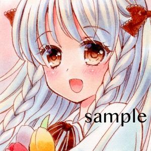 【オリジナル・チューリップと女の子】アナログ原画