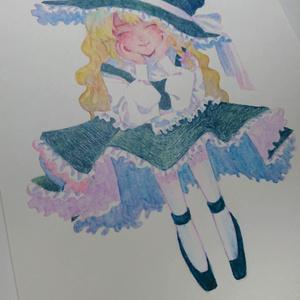イラスト原画/魔理沙