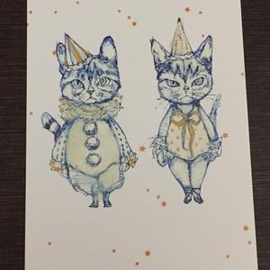「サーカステントの猫と猫。ときどき、犬。」ポストカードセット