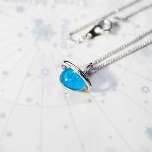 土星(青) ネックレス
