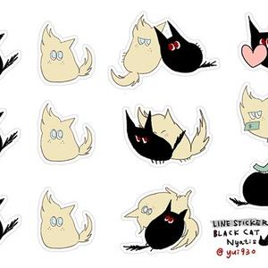 【GOODS】Black Cat Nyatisステッカー