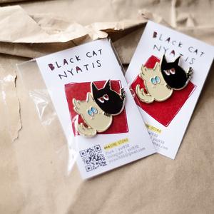 【ピンズ】Black Cat Nyatis