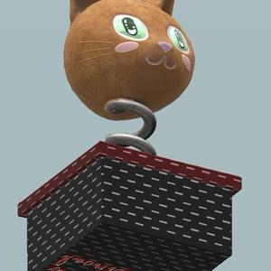 ネコのびっくり箱 VRChat想定