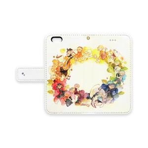 ◆手帳型iPhoneケース(iPhone6・ストラップ穴あり)