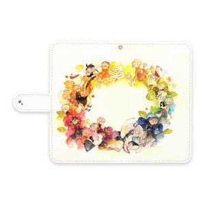 ◆手帳型Androidケース-L-ストラップ穴あり