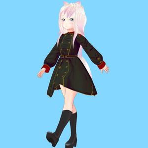 【VRoid衣装】ミリタリーワンピースセット