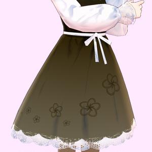 【VRoid用】チョコレートモチーフのドレス