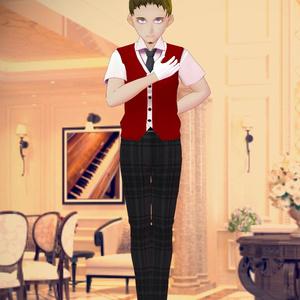高級ホテルのベルスタッフ風制服セット【VRoid用衣装】